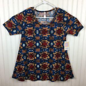 Lularoe Perfect T Shirt Colorful Print